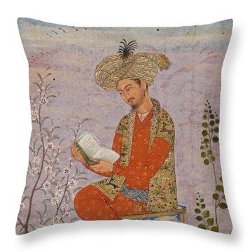 Royal Reader Throw Pillow by Asok Mukhopadhyay