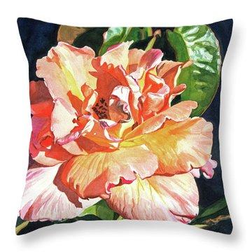 Royal Rose Throw Pillow