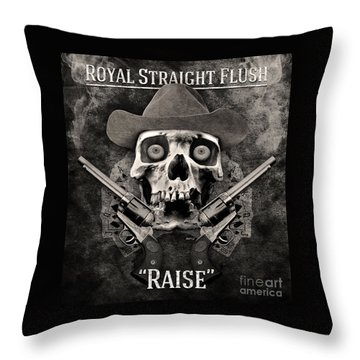 Throw Pillow featuring the digital art Royal Straight Flush by Phil Perkins