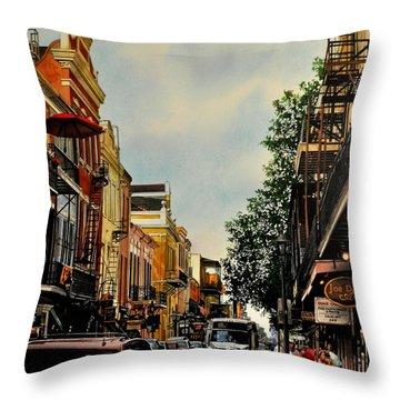 Royal Street Strole Throw Pillow