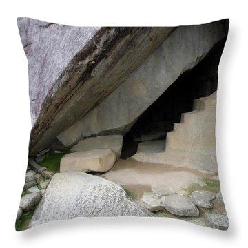Throw Pillow featuring the photograph Royal Tomb, Machu Picchu, Peru by Aidan Moran