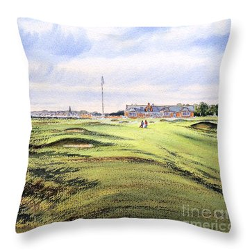 Royal Troon Golf Course Throw Pillow by Bill Holkham