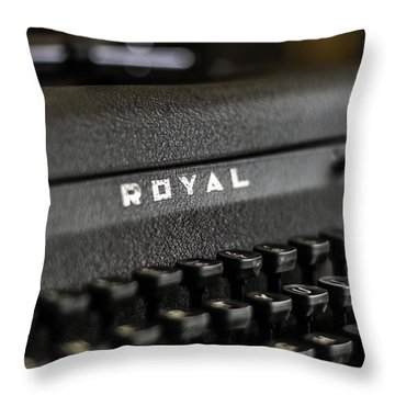 Royal Typewriter #19 Throw Pillow