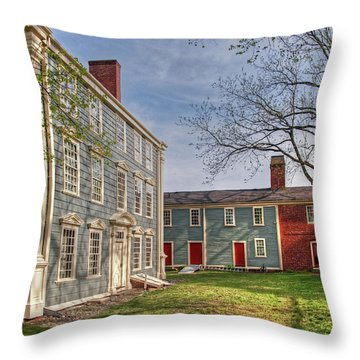 Royall House And Slave Quarters Throw Pillow