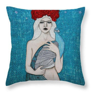 Throw Pillow featuring the painting Royalty by Natalie Briney