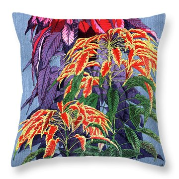 Throw Pillow featuring the painting Roys Collection 6 by John Jr Gholson