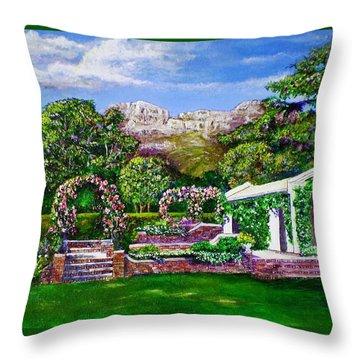 Rozannes Garden Throw Pillow by Michael Durst