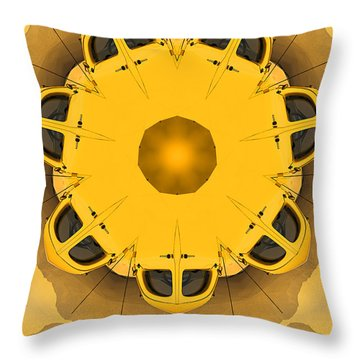 Throw Pillow featuring the digital art Rozwell by Peter J Sucy