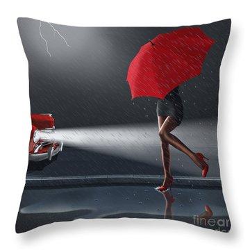 Rainy Day Throw Pillow by Monika Juengling