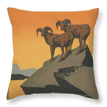 Rreserve Wildlife Throw Pillow by Unknown