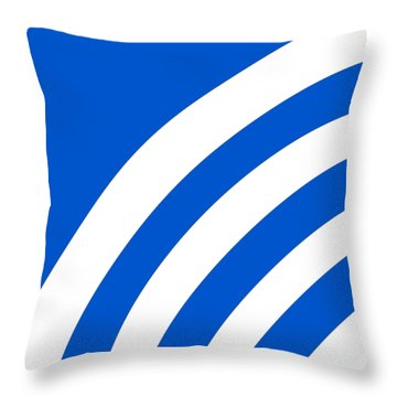 Throw Pillow featuring the digital art Rss Pattern - Pick Your Color by Mark E Tisdale