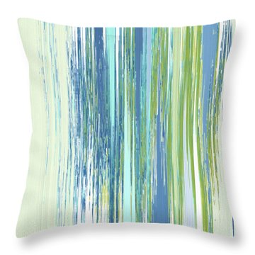 Throw Pillow featuring the digital art Rainy Street by Gina Harrison