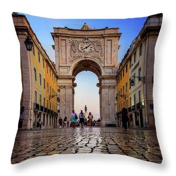Rua Augusta Arch Lisbon Throw Pillow