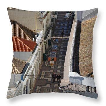 Rua Do Crime In Faro Throw Pillow