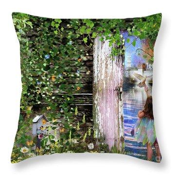Throw Pillow featuring the digital art  Ruach Ha-kodesh by Dolores Develde