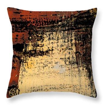 Rub Abstract Throw Pillow by Gary Everson