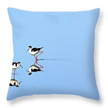 Rubber Legs Throw Pillow by AJ Schibig
