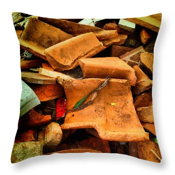 Throw Pillow featuring the photograph Rubbish by Beto Machado