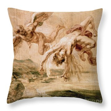 Rubens:fall Of Icarus 1637 Throw Pillow by Granger