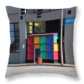 Rubik Shelter Throw Pillow by Michiale Schneider