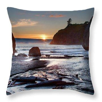 Ruby Beach #1 Throw Pillow