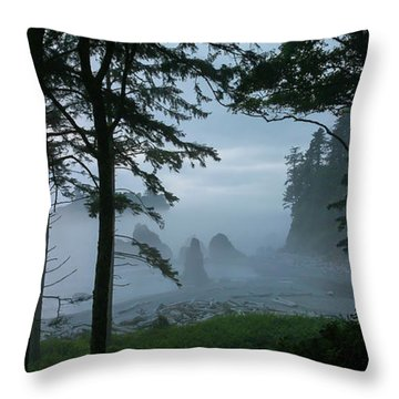 Ruby Beach II Washington State Throw Pillow