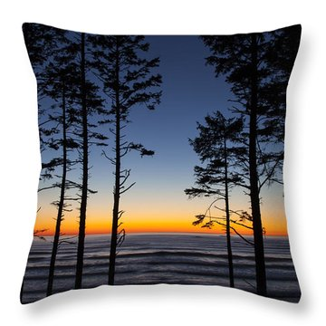 Ruby Beach Trees #4 Throw Pillow