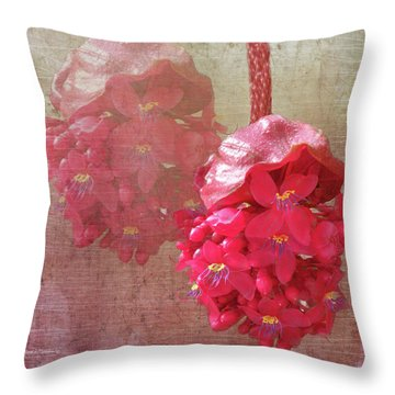 Ruby Colored Orchid Throw Pillow