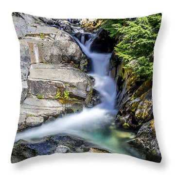 Throw Pillow featuring the photograph Ruby Creek Mt Rainier by Rob Green