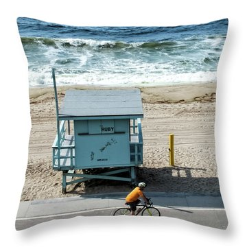 Throw Pillow featuring the photograph Ruby by Eric Lake