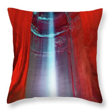 Ruby Falls Throw Pillow