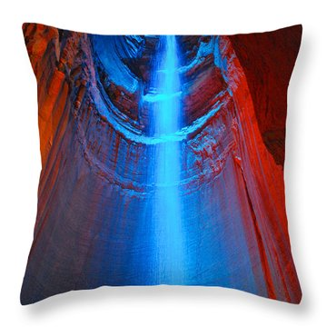 Ruby Falls Waterfall 3 Throw Pillow