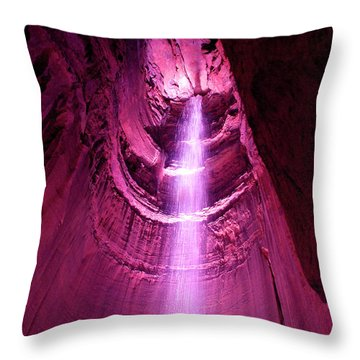 Ruby Falls Waterfall 5 Throw Pillow by Mark Dodd
