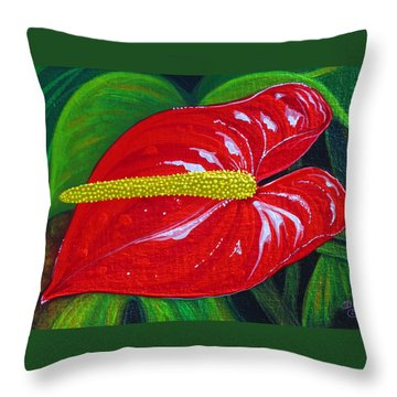 Ruby Holiday Throw Pillow