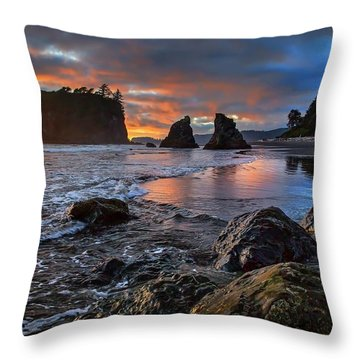 Ruby In The Rough At Sunset Throw Pillow