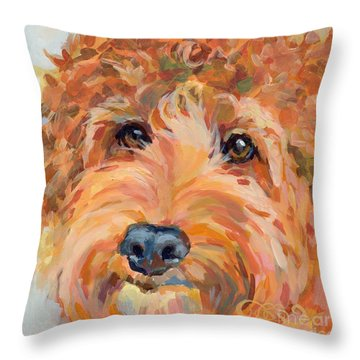 Ruby Throw Pillow by Kimberly Santini