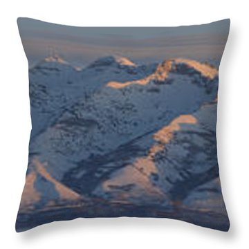 Ruby Mountains Panorama Throw Pillow