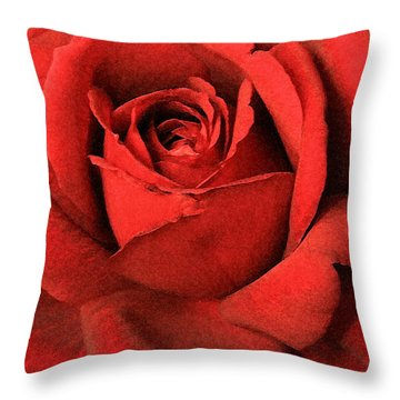 Ruby Rose Throw Pillow by Marna Edwards Flavell