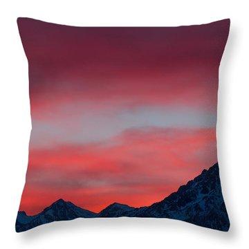 Ruby Skies Throw Pillow