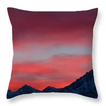 Ruby Skies Throw Pillow by Jan Davies
