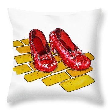 Ruby Slippers The Wizard Of Oz  Throw Pillow