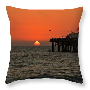 Ruby's Sunset Throw Pillow