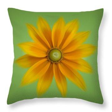 Rudbeckia Blossom Irish Eyes - Square Throw Pillow