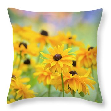 Throw Pillow featuring the photograph Rudbeckia Indian Summer Flowers by Tim Gainey