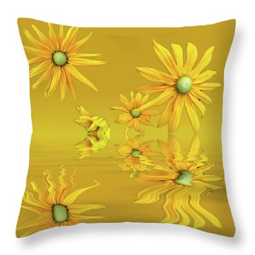 Throw Pillow featuring the photograph Rudbekia Yellow Flowers by David French