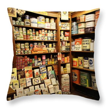 Ruddy's 1930 General Store Throw Pillow