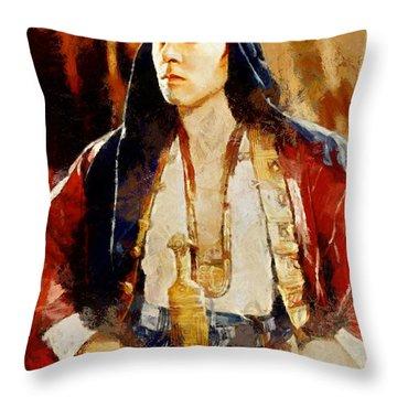 Rudolph Valentino As The Sheikh Throw Pillow