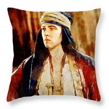 Rudolph Valentino As The Sheikh Throw Pillow
