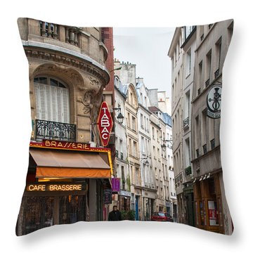 Rue Dante Paris Throw Pillow
