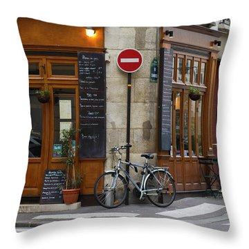 Rue De La Colombe - Paris Photograph Throw Pillow
